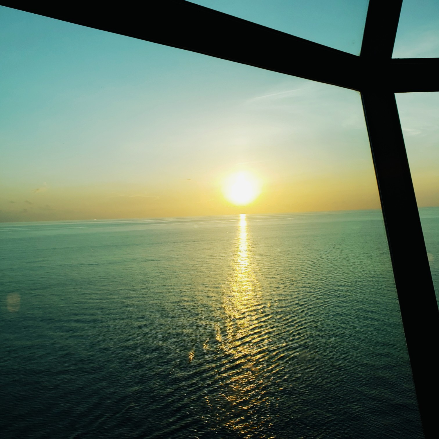 Sunset from Royal Caribbean Cruise