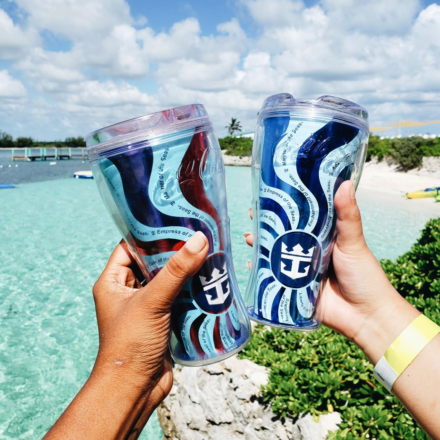 Royal Caribbean Souvenir Cups Near Beach