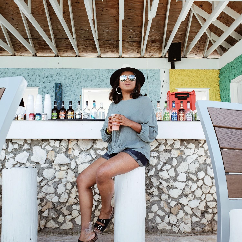 Travel Blogger Afroza Khan Drinking Cocktails