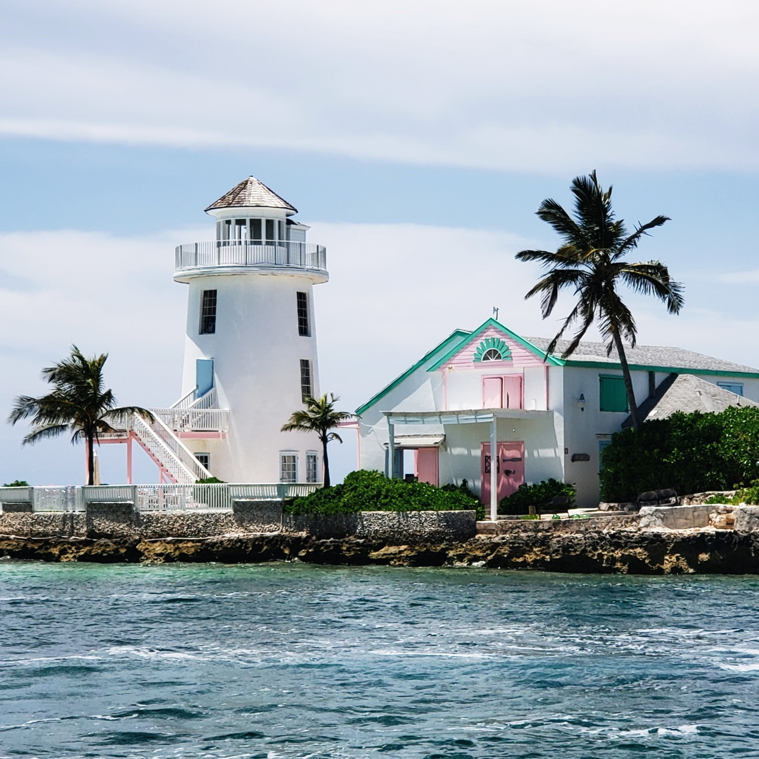 Colorful Light House Private Island Pearl Island Bahamas