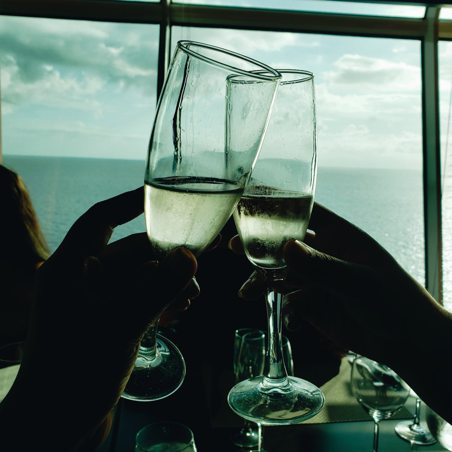 Champagne Toast on Royal Caribbean Mariner of Seas Cruise