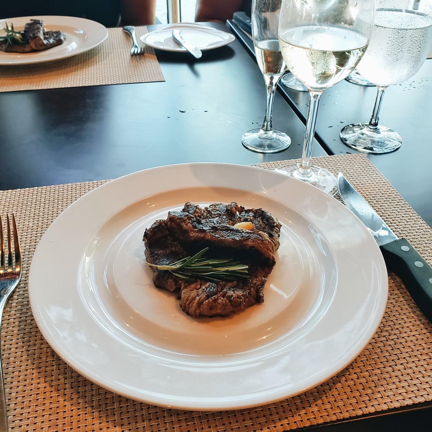 Chops Grille Steak Dinner in Mariner of the Seas