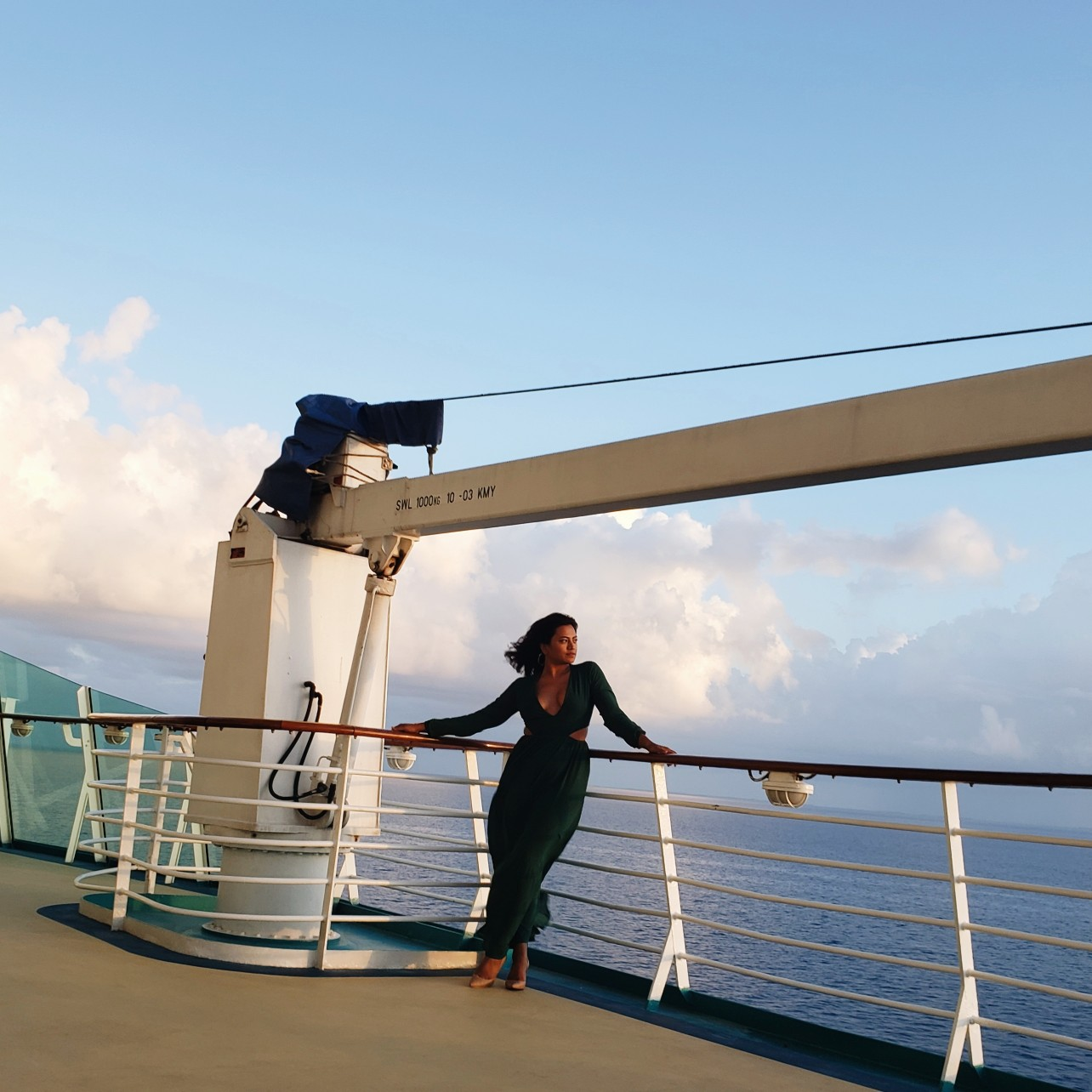 Travel Blogger Afroza Khan Formal Maxi Cruise Style on Royal Caribbean Cruise