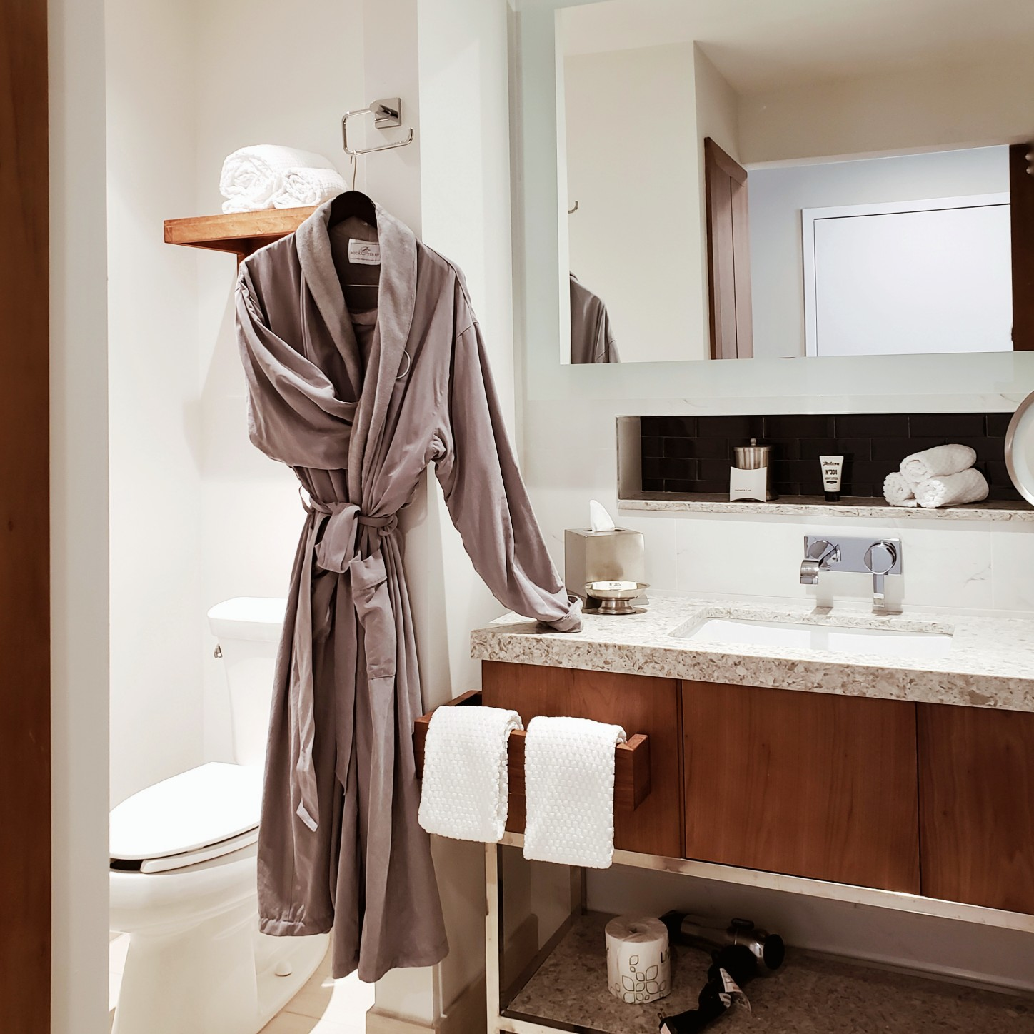 Gorgeous grey soft bathrobe at Circ Hotel