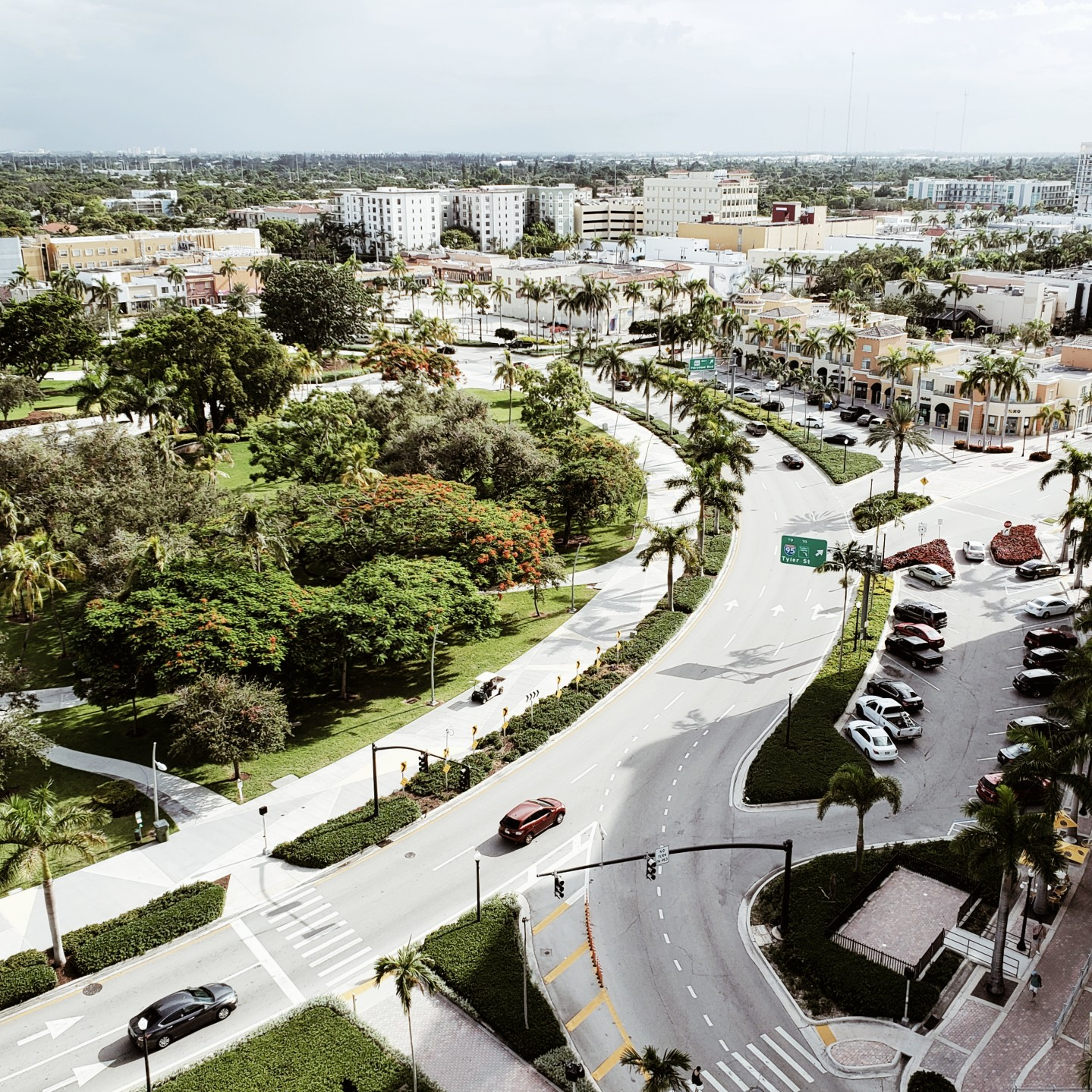 Views of Young Circle in Downtown Hollywood Florida