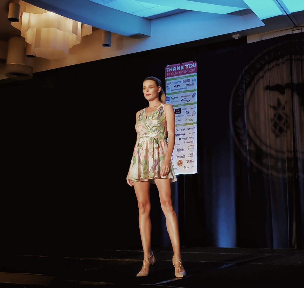 Hotel employee fashion runway show