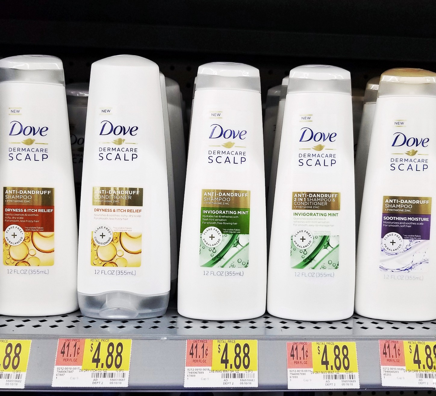 Dove Dermacare at Walmart