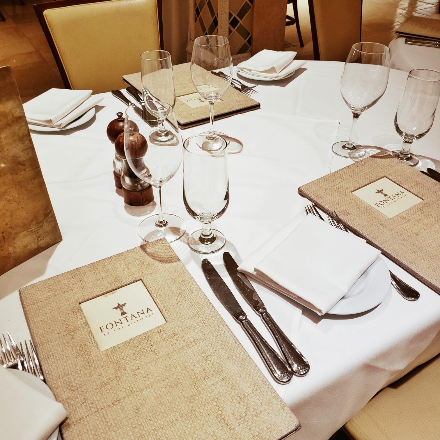 Biltmore Hotel staycation dinner