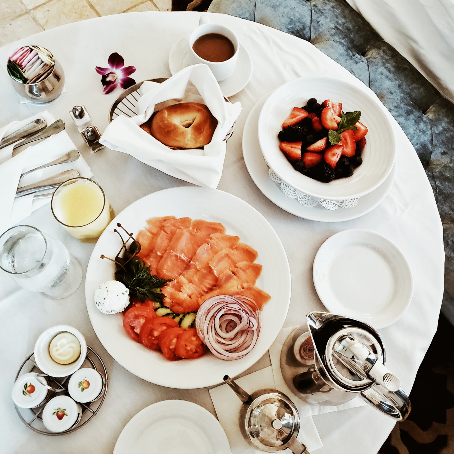 Biltmore Hotel Miami Coral Gables Room Service Breakfast by Travel Blogger Afroza Khan