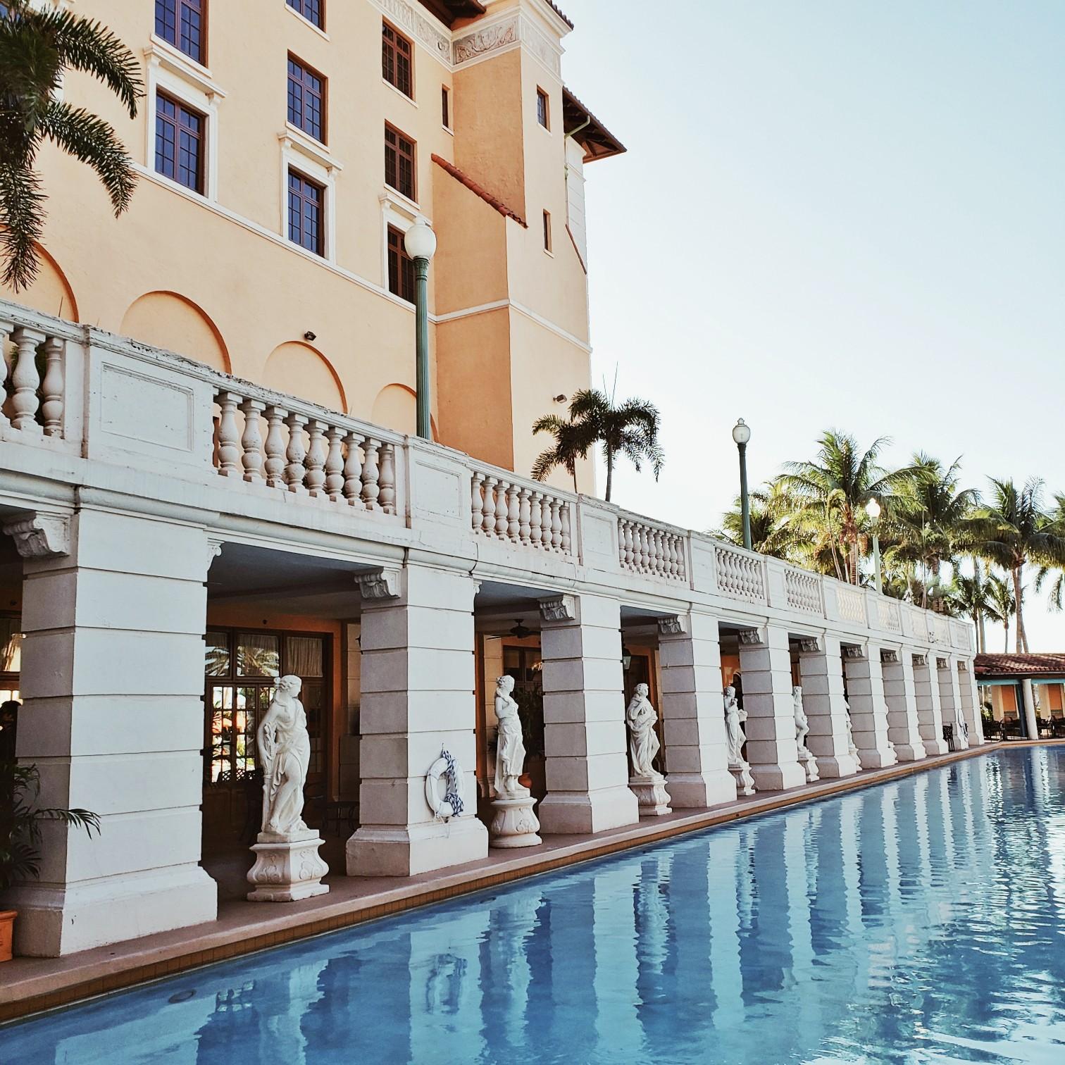 Biltmore Hotel Miami Coral Gables Luxury Staycation Vintage Pool