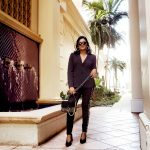 Miami Fashion Blogger Chic Black Pant Suit Fall Style