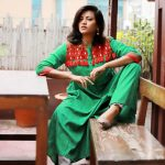 Bangladesh Blogger Model Afroza Khan Wearing Brac Aarong Kameez