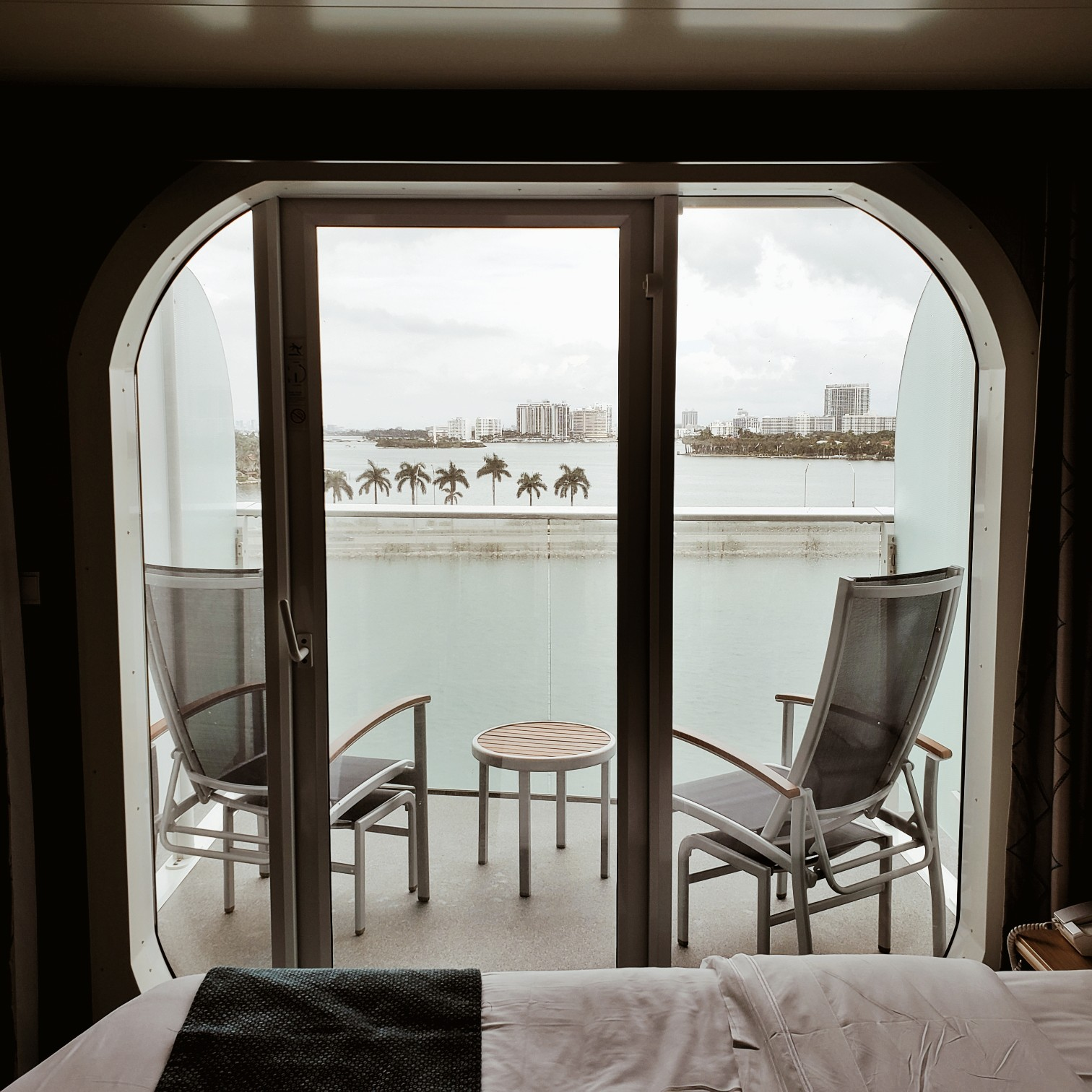 Royal Caribbean Symphony of the Seas Ocean view Stateroom Review Balcony