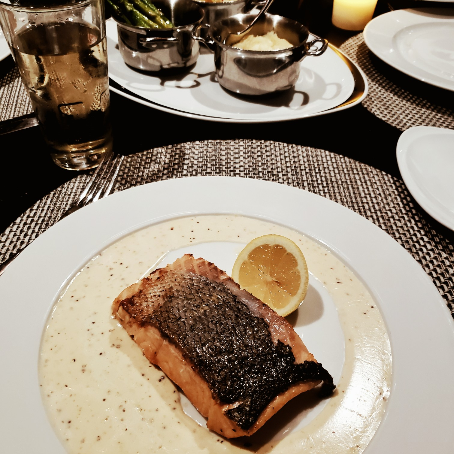 Royal Caribbean Symphony of the Seas Chops Grille Salmon Dinner