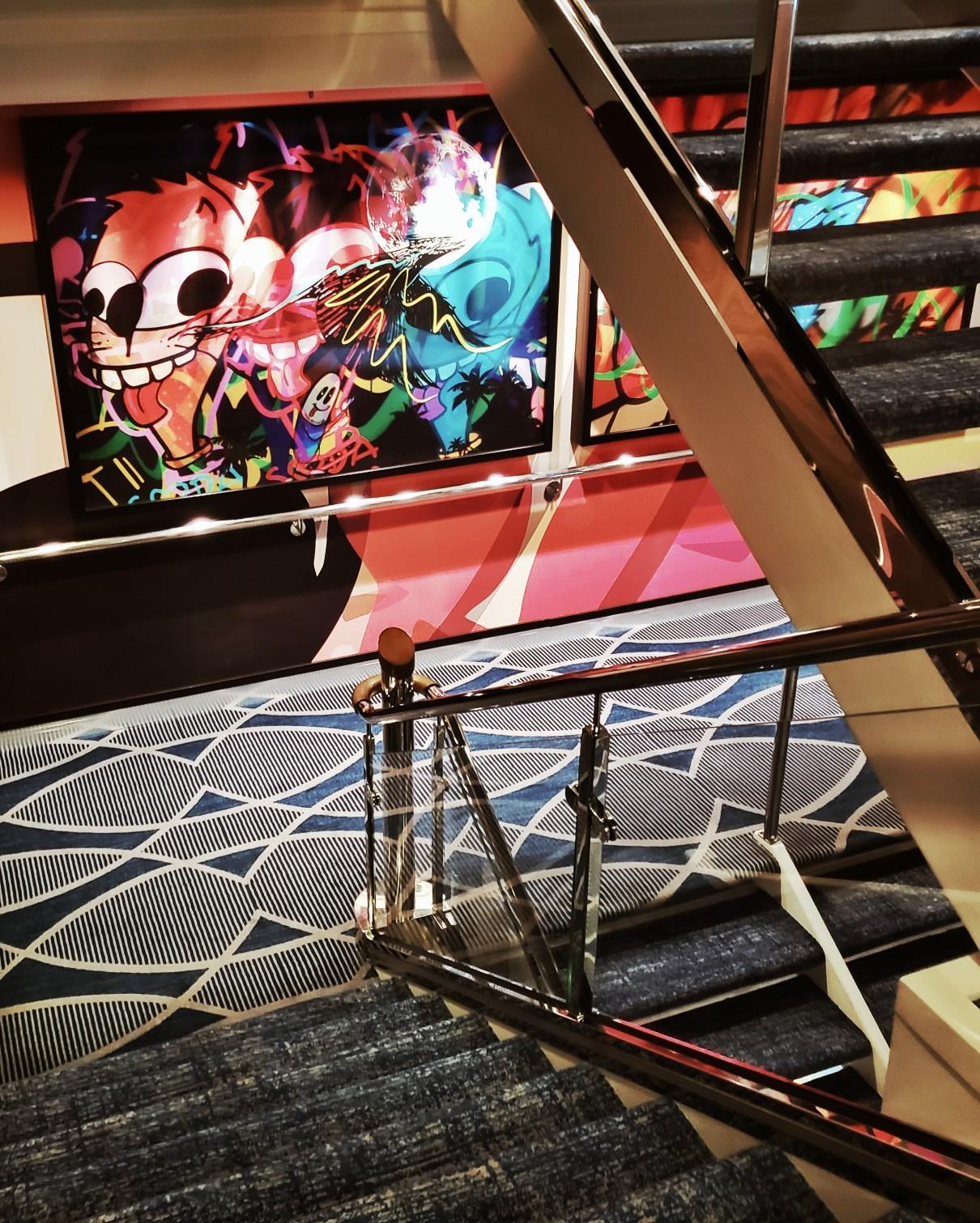 Royal Caribbean Symphony of the Seas staircase art work