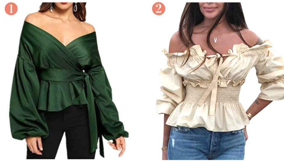 8 Amazon Prime Chic Fashion Off The Shoulder Tops