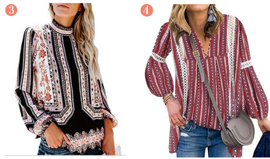 Amazon Boho Chic Hippie Fashion Tops Under $25