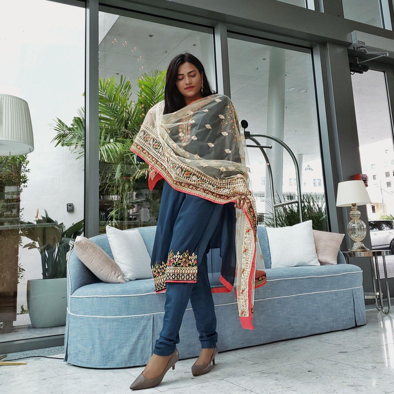 Miami Lifestyle Blogger Afroza Khan Desi Style Fashion Salwar Kameez