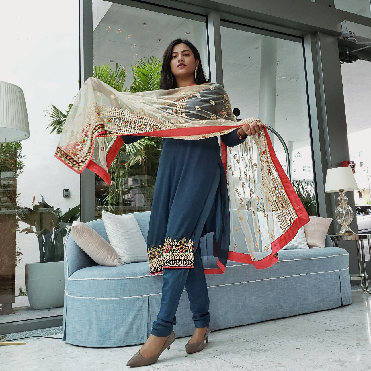 Miami Fashion Blogger Indian Style Salwar Kameez Outfit Eid