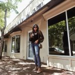 Miami Fashion Blogger Fall Street Style Mesh Black Top and Democracy Jeans Cold Coffee Addict in Coral Gables