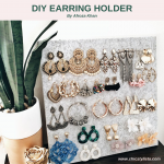 DIY Felt Board Earring Holder Art Home Display