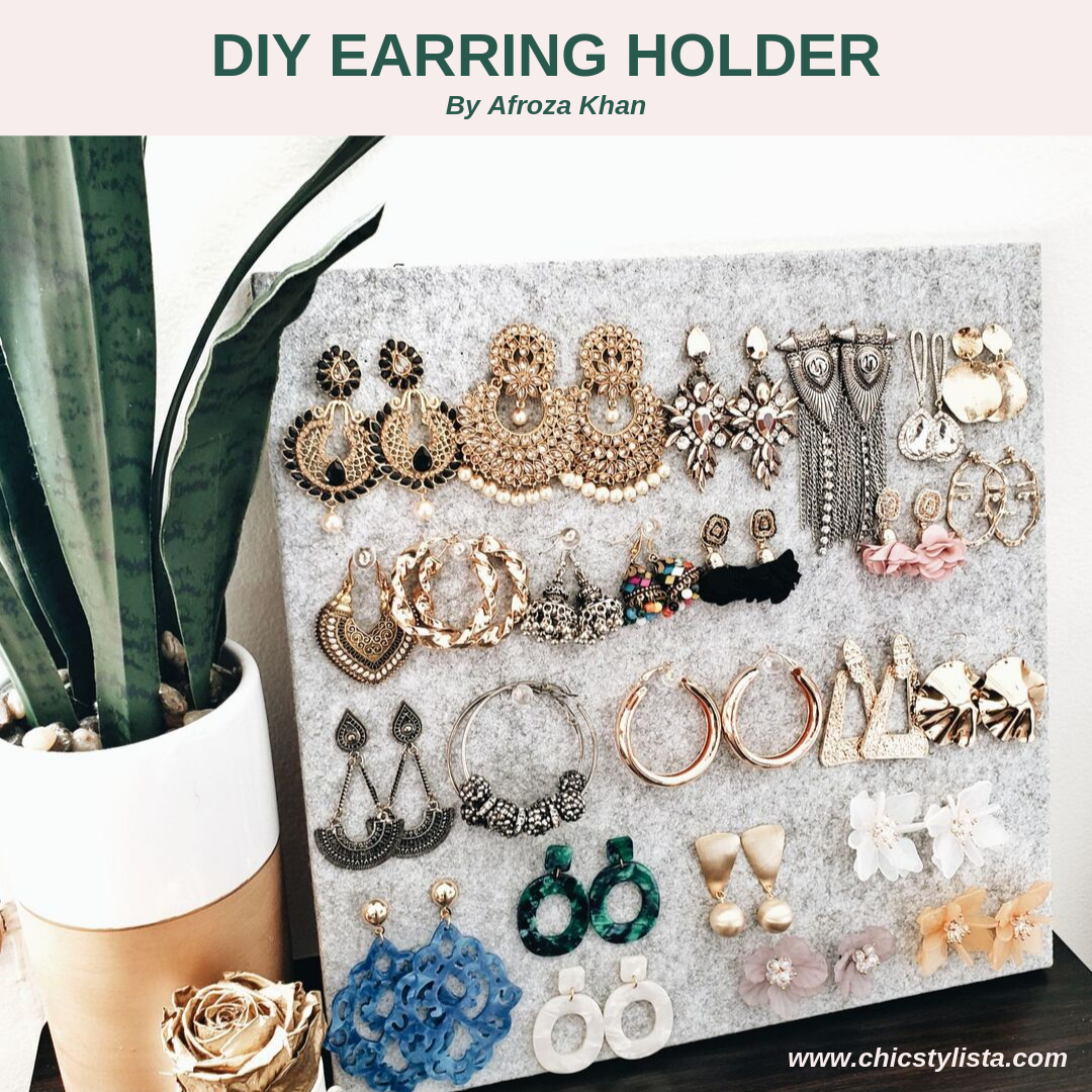 DIY Felt Board Earring Holder Art Home Display