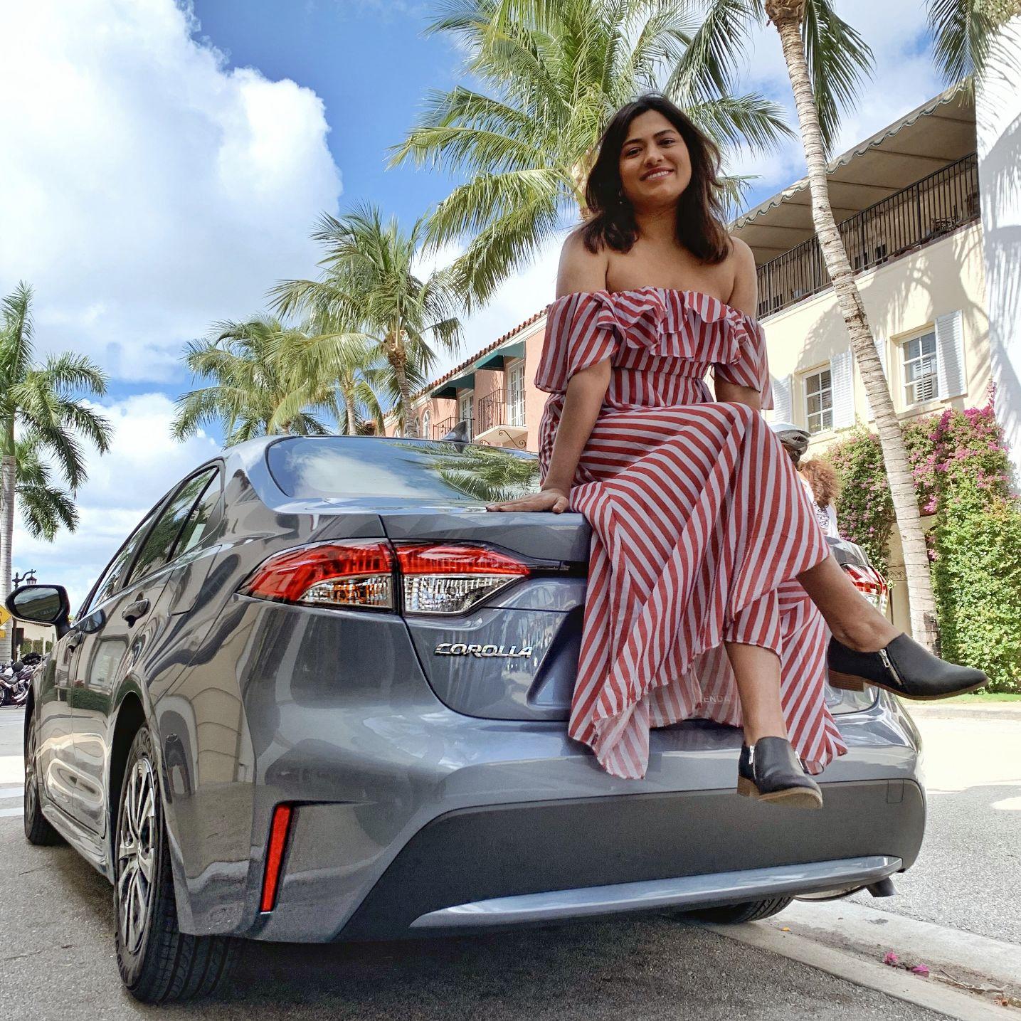 Miami Car Blogger Afroza Khan Reviews 2020 Toyota Corolla Hyrbid