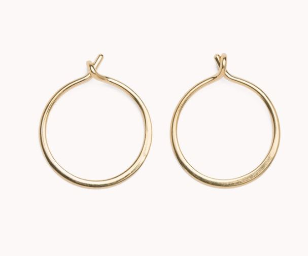 Thin Dainty Gold Hoop Earrings