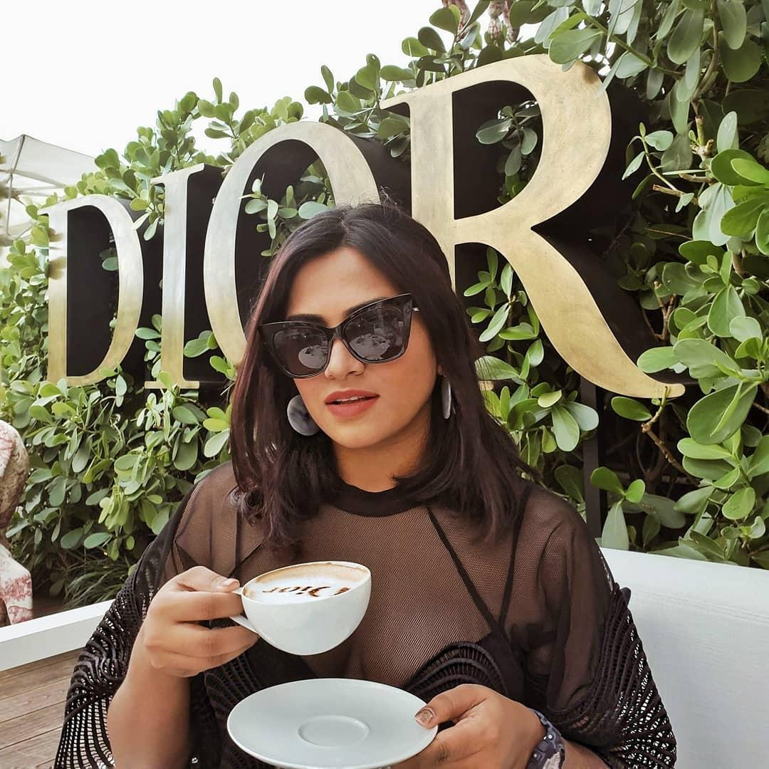 Miami Fashion Blogger Afroza Khan at Dior Cafe Miami