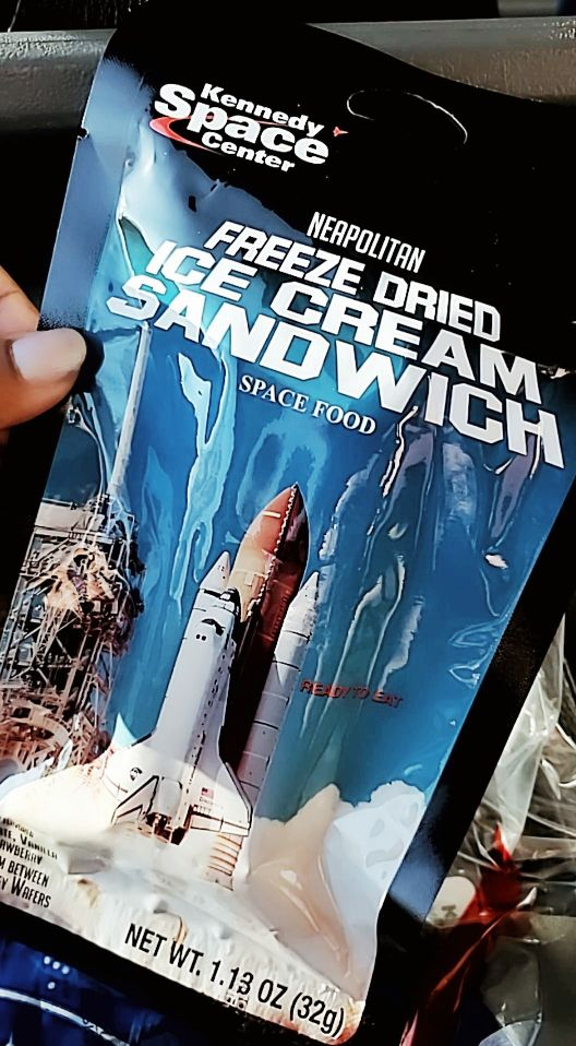 Freeze Dried Ice cream Astronaut Food Kennedy Space Center