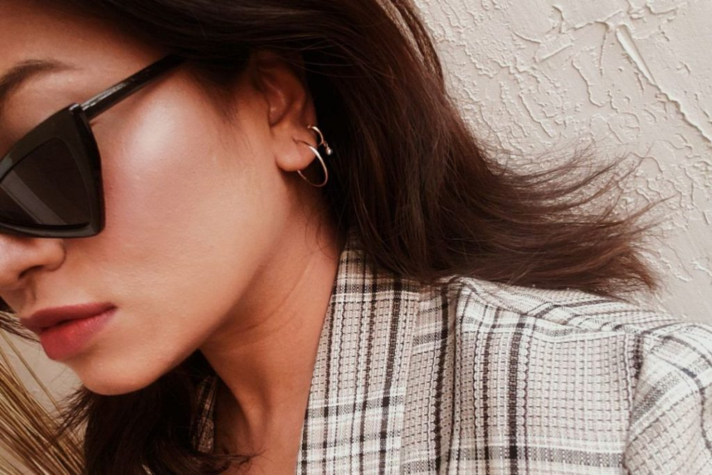 Fashion Influencer Mejuri Dainty Earrings