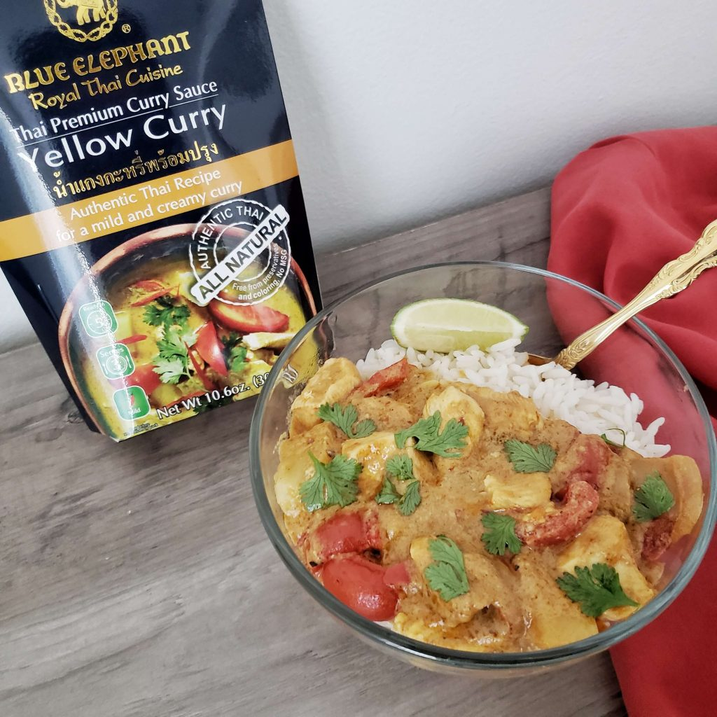 Thai Yellow Chicken Curry Easy Thai Food Recipe with rice