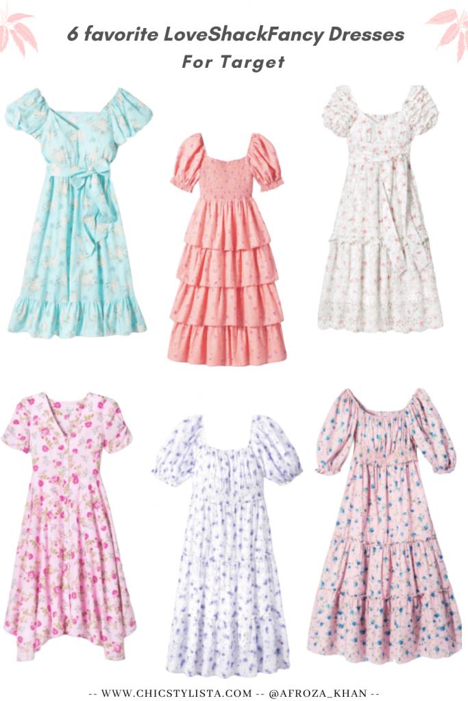 6 favorite LoveShackFancy for Target Summer Maxi Dresses Boho Style