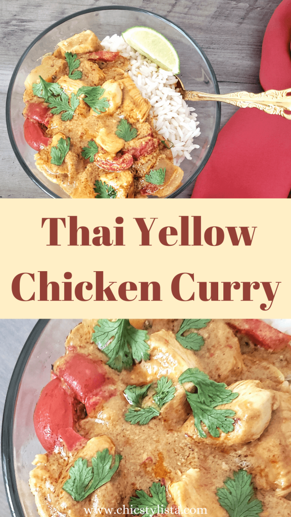 Thai Yellow Chicken Curry Recipe Pinterest