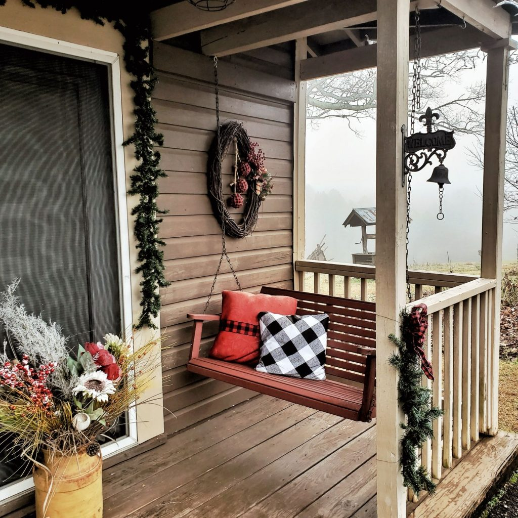 South Carolina Airbnb Backyard Porch Swing